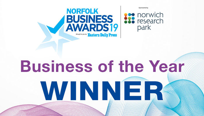 Norfolk Business Awards 2019 Finalist!